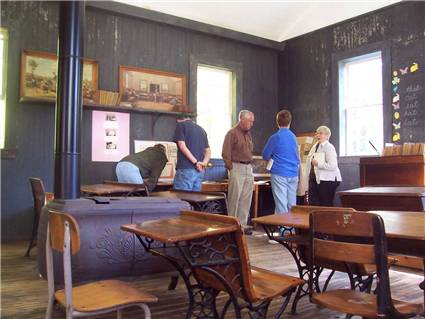 Open House at the Barkhamsted Historical Society Center School House - interior view