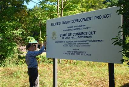 Squires Tavern Development Project Sign